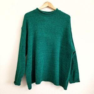 VTG Diane Von Furstenberg Green Chenille Sweater